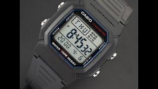 Casio W-800H-1A видео обзор и настройка