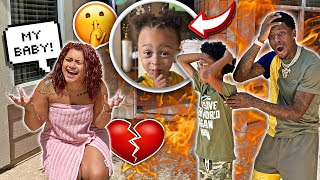 HOUSE ON FIRE PRANK ON MOM **WE CANT FIND KING**