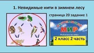 Ель и животные/Невидимые нити в зимнем лесу №1 (Окр.мир 2 класс Перспектива)