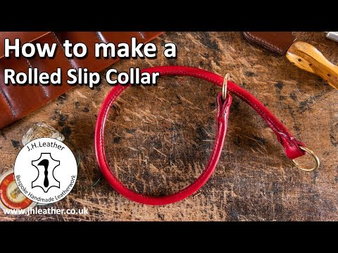 How To Make A Rolled Slip Collar - Rolled Leather Tutorial