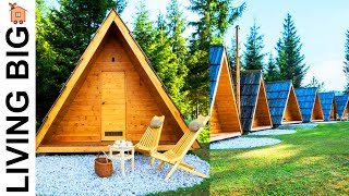 A-frame Pod Micro Cabins In Slovenia | Tiny House Interiors