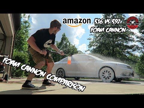 """Foam Cannon Comparison ($16 Amazon Cannon vs $90 """"Professional"""" Cannon)"""