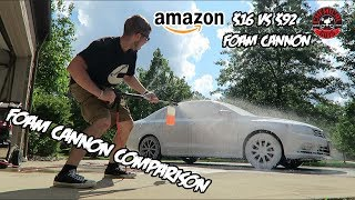 Foam Cannon Comparison ($16 Amazon Cannon vs $90