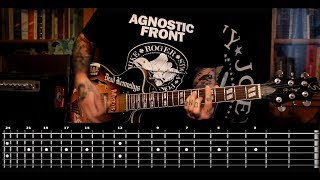 Sasha Rock'n'Roll guitar lessons - Agnostic Front (For My Family) видео урок №16 tutorial