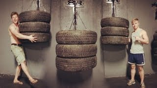 Repeat youtube video Muay thai / Boxing Tyre Bag - Explosive Fitness