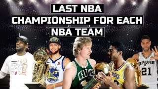 EVERY TEAMS LAST NBA CHAMPIONSHIP!
