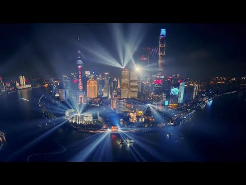 Shanghai, Chongqing stage light shows to celebrate CPC centenary