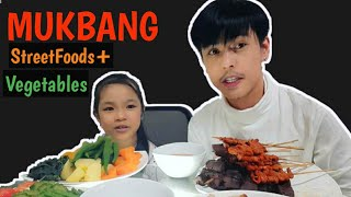 Mukbang Philippines Street Foods Vs. Veggies with Keith Talens Daughter