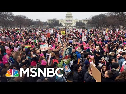 Hundreds Of Thousands Rally In Women's Marches | AM Joy | MSNBC