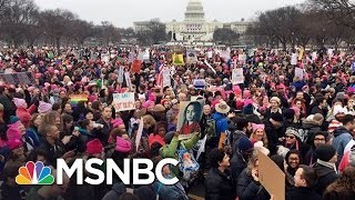 Repeat youtube video Hundreds Of Thousands Rally In Women's Marches | AM Joy | MSNBC