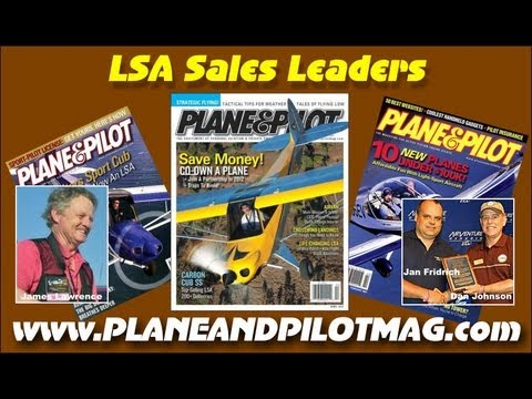 Plane and Pilot Magazine, light sport aircraft sales leaders heading into 2013.