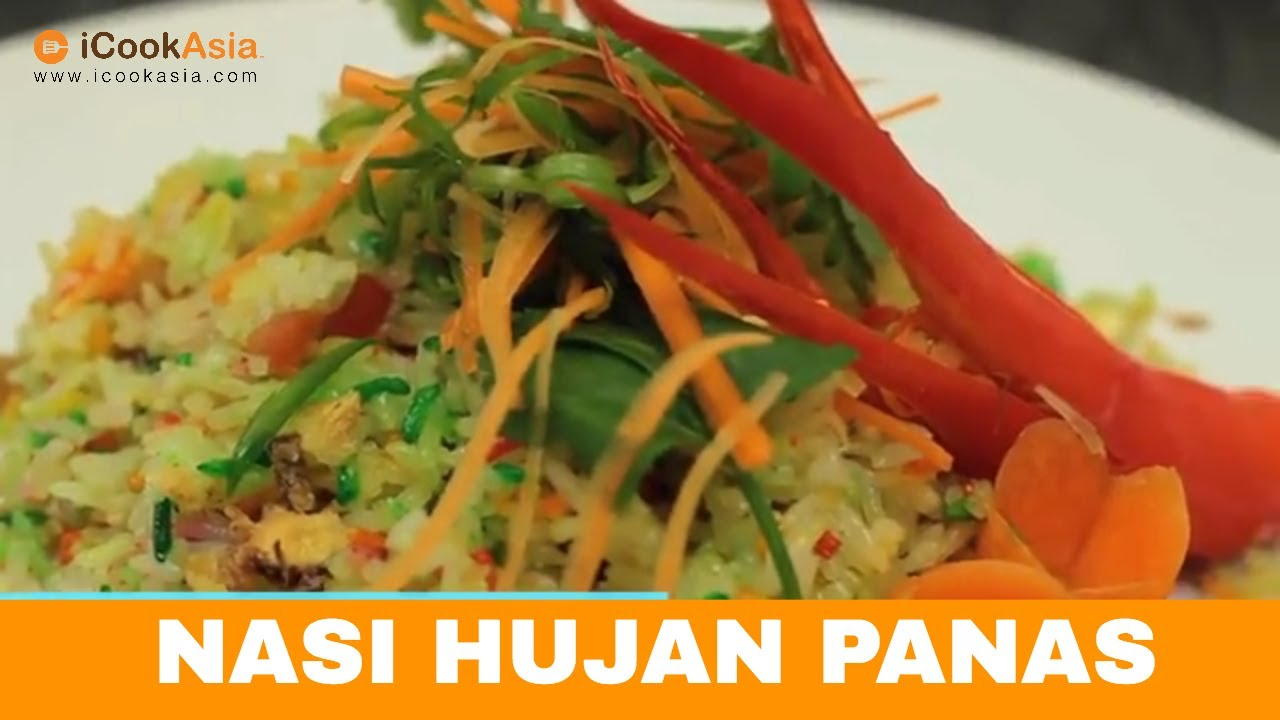 Resepi Nasi Hujan Panas   Try Masak   iCookAsia - YouTube
