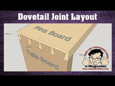 How To Lay Out Dovetails FAST And EASY! (Cut Through And Half-blind Joints)