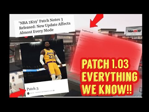 f84a50134e9 NBA 2K19 PATCH 1.03 NOTES INCOMING INBOUND GLITCH FIXED  EVERYTHING WE KNOW