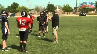 Youth football fundamentals: shedding blocks and creating turnovers