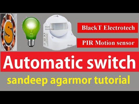 pir motion sensor installation