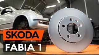 Hvordan bytte foran bremseskiver der på SKODA FABIA 1 (6Y5) [BRUKSANVISNING AUTODOC]