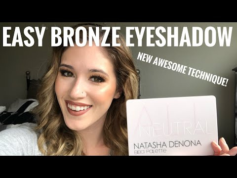 Natasha Denona Biba Palette Bronze Eye Look | Testing New and Super Easy Technique thumbnail