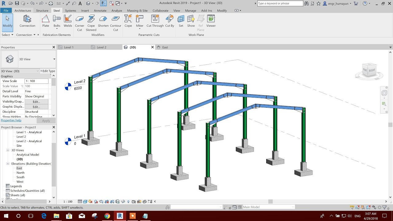 STEEL SHED MODELING IN REVIT 2019-CREATE NEW CONNECTION TYPE