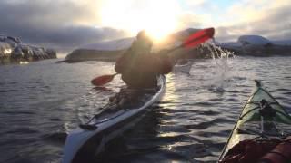 Winter kayaking, Bohuslän, West Sweden