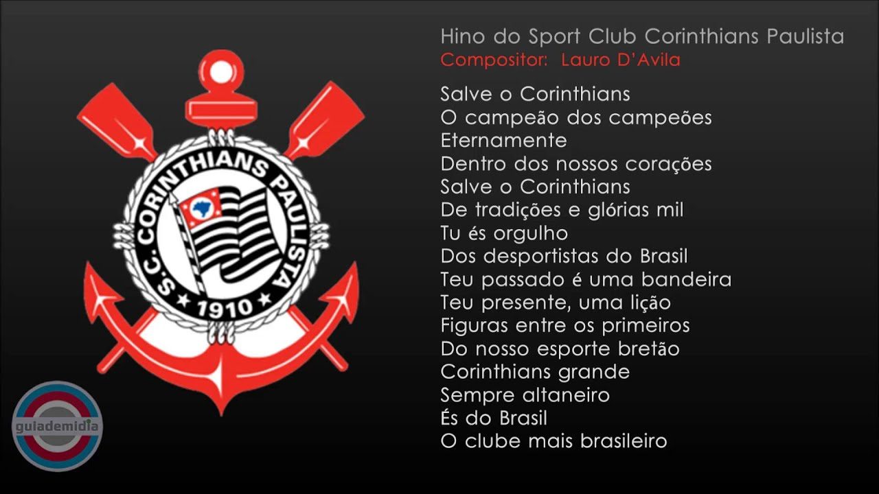 Hino Oficial Do Corinthians Youtube