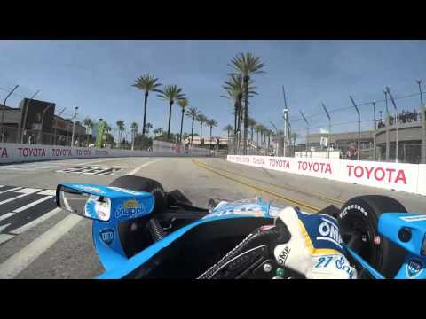 Visor Cam: Marco Andretti At The Toyota Grand Prix of Long Beach