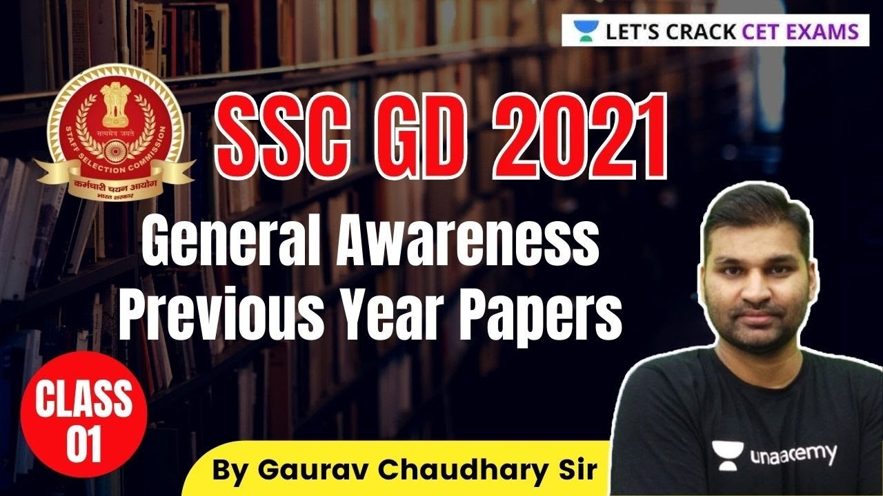 12:00 PM : General Awareness | Previous Year Papers | Class 01 | Target SSC GD 2021 By Gaurav Sir