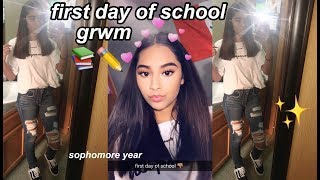 GRWM FIRST DAY OF SCHOOL