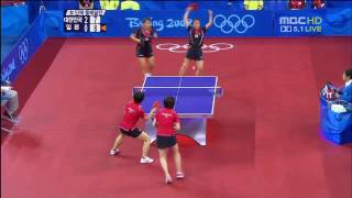 Kim Kyung Ah, Park Mi Young vs Fukuoka Haruna, Hirano Sayaka (2008 Olympics) [HD]