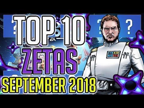 Top 10 Zetas - September 2018 | Star Wars: Galaxy of Heroes