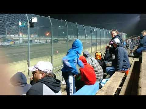 The feature for dirt trucks at Fremont Speedway