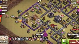 Clash of Clans | How to fool a lava hound and get 3 Stars on TH9 Gowipe by rd