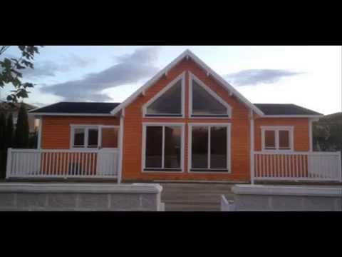 Casas de madera algunos for Modelos de casas alargadas