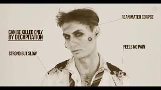 Эволюция грима для образа зомби за последние 100 лет