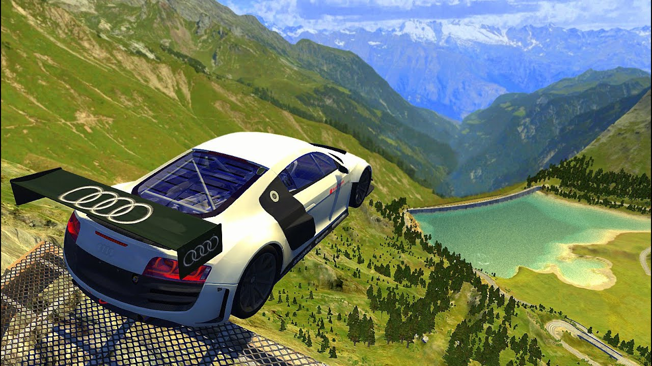 High Speed Insane Jumps (Cras Test) - BeamNG drive High Speed Jumps Down Stairs
