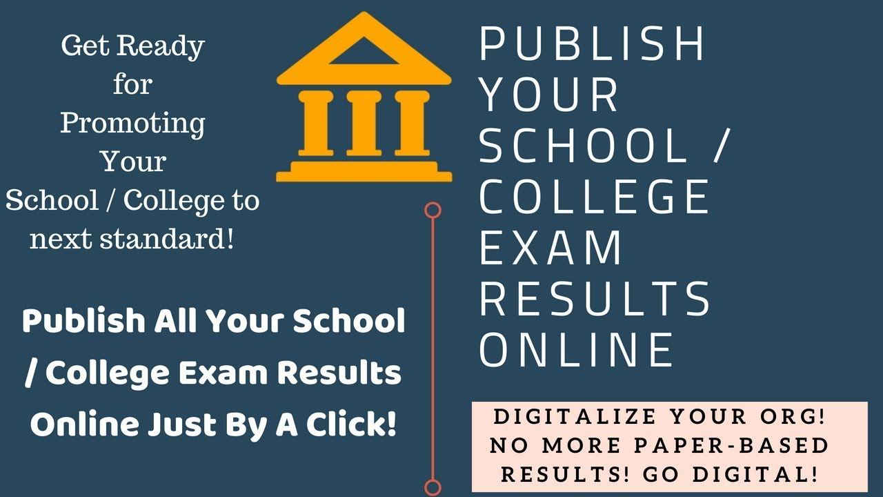 Online Result Publishing App For Schools and Colleges
