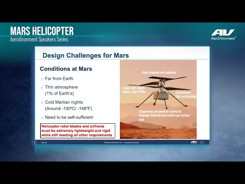 Mars Helicopter Speakers Series - Challenges of Mars