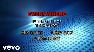 Tim McGraw - Everywhere (Karaoke)