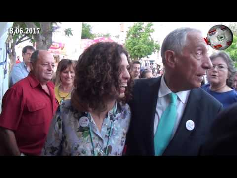 """ALVAIÁZERE – Marcelo Rebelo de Sousa distribuiu afectos… e """"selfies"""" na Capital do Chícharo."""