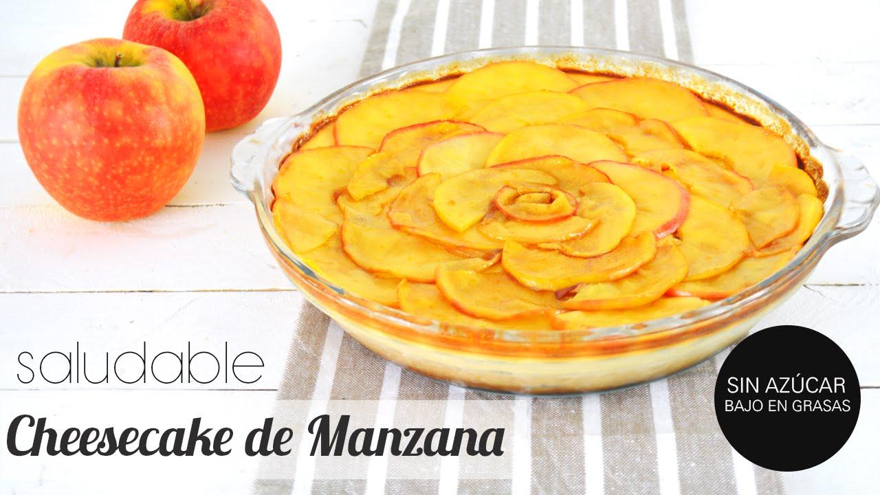 Postres Saludables: Cheesecake de Manzana   Bajo en azúcar y grasas ...