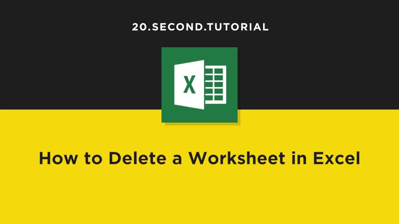 worksheet How To Delete A Worksheet In Excel how to delete a worksheet excel tutorial 13 youtube 13