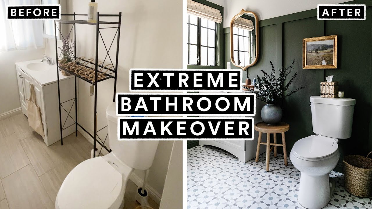 EXTREME BATHROOM MAKEOVER From Start to Finish 🚽 *Insane DIY Transformation*
