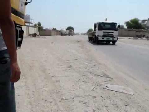 A worker is having a walk in Al Khor industrial area