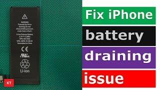 Fix iPhone battery draining fast problem