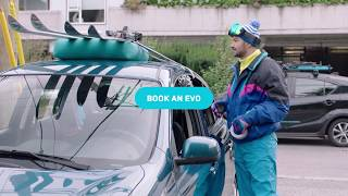 Get there easier. Book an Evo.