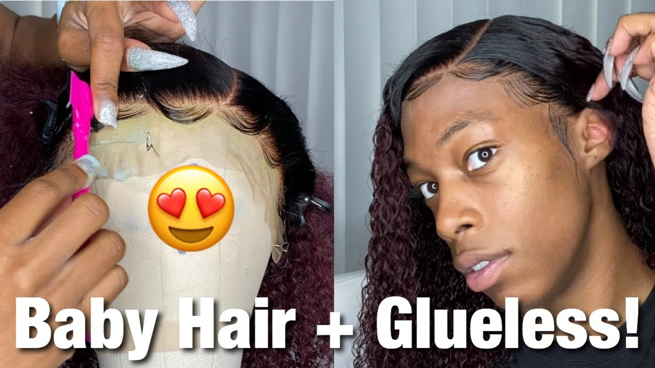 99J Burgundy Curly Lace Front Wig🍒| full Baby Hair Tutorial + Glueless Method | Afsisterwig