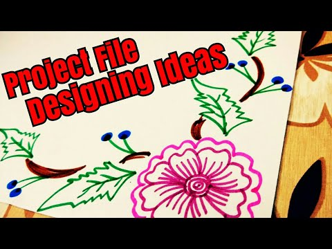 Project file design   Border designs on paper   How to decorate borders of school project ? DIY