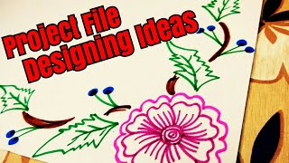 Project file design | Border designs on paper | How to decorate borders of school project ? DIY
