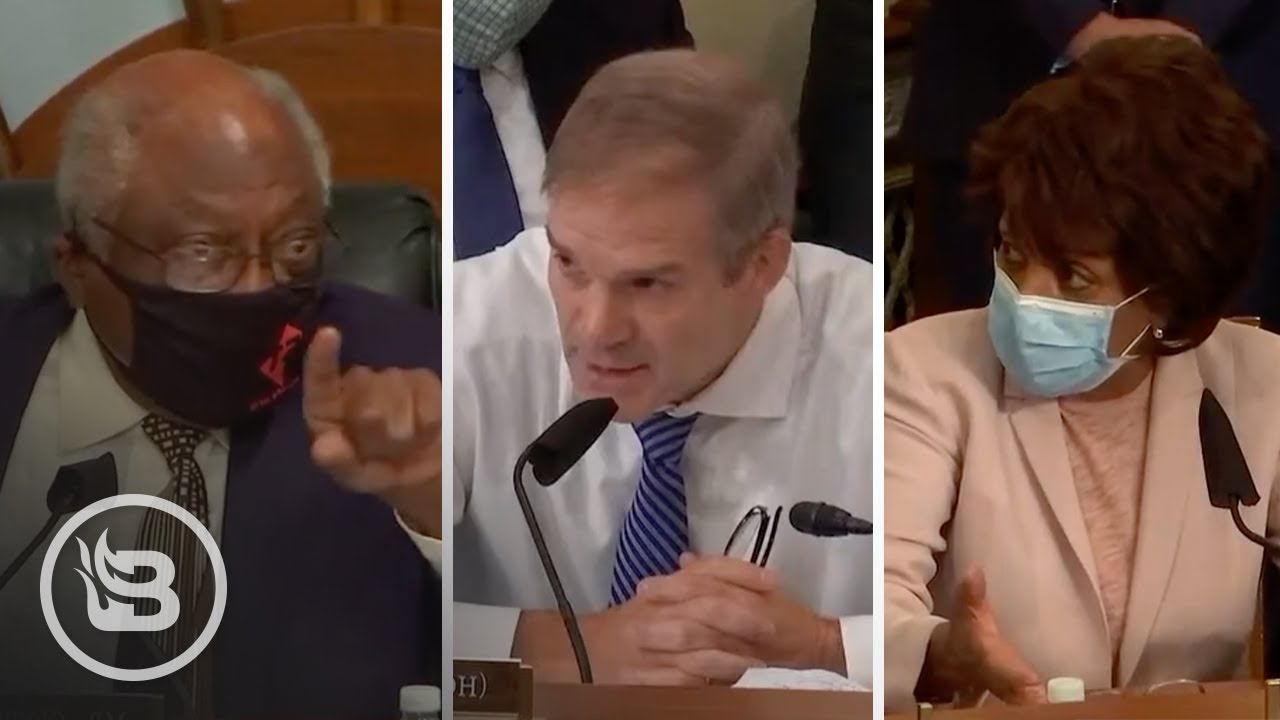 Clyburn and Maxine Waters Get Into Petty Fight Over Masks - Jim Jordan Steps in to ROAST Them