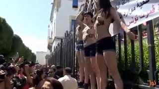 فتيات أعضاء منظمة عاريات فيمين حضروا الى تونس